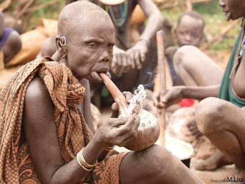 трубка калабаш в Африке